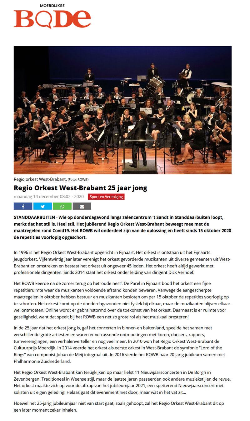 Regio Orkest West Brabant, 25 jaar jong